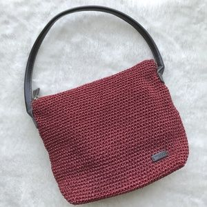 The Sak Red Woven Shoulder bag/purse/handbag